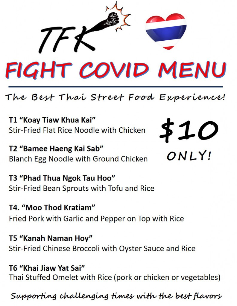 Fight Covid Menu